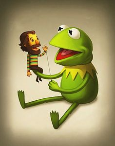 Kermit the Frog with Jim the Human…