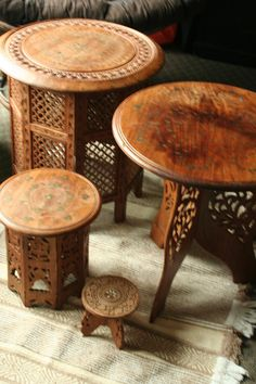 HandCarved Indian Table by MollysRidge on Etsy
