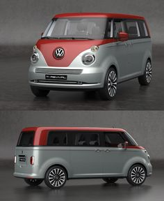 2016 Volkswagen Vintage Concept > inspired by the 1950 VW Concept brings back confident style with modern technology the beautiful > please build it! > a work of art by designer David Obendorfer! Transporteur Volkswagen, Vw T1, Combi Vw, Busse, Vw Cars, Vw Camper, Collector Cars, Concept Cars, Cars Motorcycles