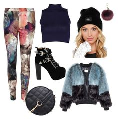 """""""color"""" by anjakielb on Polyvore featuring Ted Baker, OBEY Clothing and Jeffrey Campbell"""