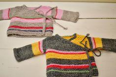 Omlottskofta newborn – beskrivning. Knitting For Kids, Free Knitting, Baby Knitting, Diy Crochet, Crochet Baby, Baby Barn, Baby Pullover, Knitted Animals, Textiles