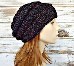 Knit Hat Womens Hat Slouchy Beanie Original Beehive by pixiebell