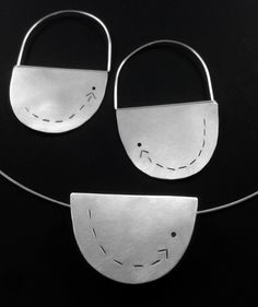 CONFUSIONS CURE, satin finished sterling silver necklace and earrings by #POLAOSLO design at www.polaoslodesign.com