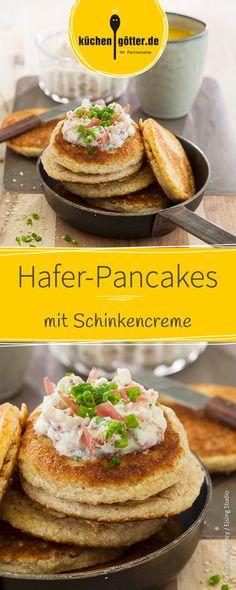 Warum Pancakes nicht auch einfach mal in einer herzhaften Variante probieren? Unser Empfehlung: Diese feine Kombi mit Schinken und Schnittlauch.