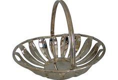 Silverplate Basket on OneKingsLane.com