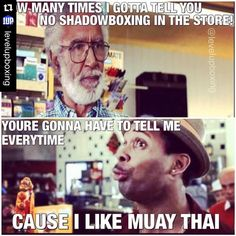Funny Muay Thai memes and martial arts humor #muaythai  #Repost @levelupboxing with @repostapp. ・・・ Sometimes if I'm just standing around I start Shadowboxing. It's compulsive. lol #lvlup #shadowboxing #mikepps #dwightaroundyolips #MuayThai