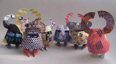 Medieval Knights paper toy set by Marius Ilgunas, via Behance