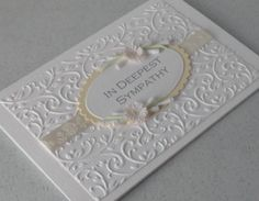 Quilled sympathy card, handmade, paper quilling flowers. £5.00, via Etsy.