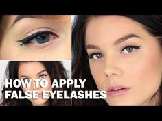 Apply false eyelashes (with subs) - Linda Hallberg Makeup Tutorials - YouTube