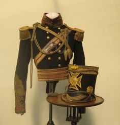 A 4th or Queens Own Light Dragoon Officers Uniform and Shako circa 1850