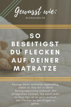 Gewusst wie: So beseitigst du Flecken auf deiner Matratze #haushalt #bett #matratze #reinigen