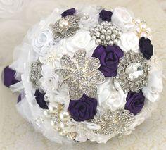 Bridal Brooch Bouquet Wedding Bouquet Jeweled Bouquet by SolBijou