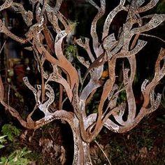 Cut Metal Tree Sculptures by Jacob Cawthon