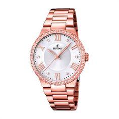 Rosévergoldete Damenuhr Festina Edelstahl F16721/1 günstig bei The Jeweller einkaufen http://www.thejewellershop.com/ #festina #steel #rose #awesome #watch #wristwatch #uhr #damen
