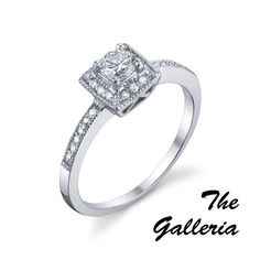 The Galleria  #MR #113-15054    The Galleria - .28ct round brilliant cut center diamond with .11cts of round brilliant cut diamonds on the side.  http://www.georgethompson.com/engagement-rings/the-galleria.html#