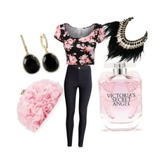 """Girly girl"" by officainstacute on Polyvore featuring H&M, Betsey Johnson, Victoria's Secret, Effy Jewelry, WithChic, women's clothing, women's fashion, women, female and woman"