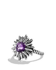 David Yurman Starburst Ring with Amethyst