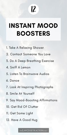 12 Instant Mood Boosters That Improve Mood And Energy In 5 Minutes : While the best ways to improve your mood tend to involve consistent, long term changes in habit, sometimes you just need a quick fix that will help you feel better. If you're feeling low Improve Mental Health, Mental And Emotional Health, Positive Quotes For Life Encouragement, Relation D Aide, Self Care Activities, Self Improvement Tips, Self Care Routine, Coping Skills, Health And Wellbeing