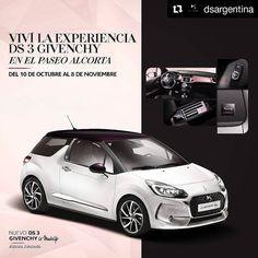 Nuevo #DS3 #Givenchy  Hasta el 8/11 #DSArgentina te brinda el #TestDrive y más actividaDS  #LoveDS #Savoir-faire #AbsolutelyDS #SpiritOfAvangarde #Repost @dsargentina ... DS Automobiles y Givenchy te invitan a descubrir el lujo francés del 10 de octubre al 8 de noviembre en el @AlcortaShopping.  De miércoles a sábado de 16 a 20hs podrás disfrutar de pruebas de maquillaje de Alta Costura.  Además de jueves a domingo de 14 a 20hs tendrás la posibilidad de probar la nueva Edición Limitada DS 3…