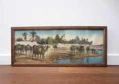 Ancient framed ORIENTALIST PHOTOGRAPHY CAMELS caravan by LeFrenchBazaar on Etsy, €59.95