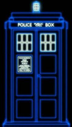 THE NEON TARDIS