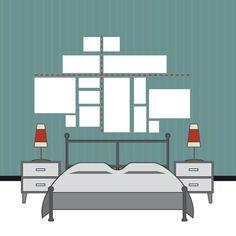 Stai decidendo come appendere quadri o stampe in camera da letto? Guarda le soluzioni alternative e vota il sondaggio!