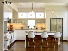 What a beautiful transformation // Kitchen remodel #white #modern