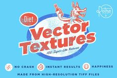Diet Vector Texture Bundle by RetroSupply Co. on @Graphicsauthor