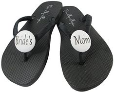 6488807d1 Grooms Mom Brides White Flip Flops for the Wedding Mother of the Groom  Sandals Shoes Ladies