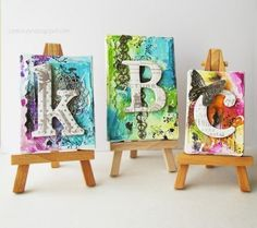 Cute mini art canvas projects by twila