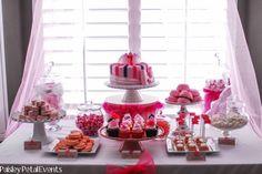 Pink Princess Party dessert table