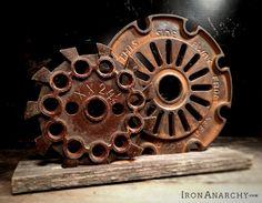 Antique Industrial Gear Sculpture from IronAnarchy.com