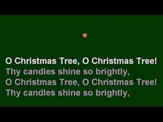 O Christmas Tree, Great Sing-Along Christmas Song with Lyrics for Children and Everyone. #songsofchristmas Merry Christmas.