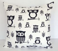 Decorative pillow cover 16 x 16 owl pillow by ThePillowPeople, $15.00
