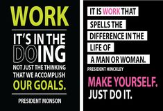 Quotes on work by President Monson and President Hinckley