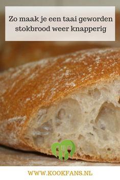 Er is een heel simpel trucje om je taaie stokbrood weer lekker knapperig van buiten te maken en zacht van binnen. Happy Foods, Finger Foods, Bread Recipes, Barbecue, Bakery, Food And Drink, Lunch, Homemade, Dinner