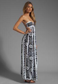 Halter Artistic Print Bandeau Maxi Dress Style Code: 12917 $45.00 ...