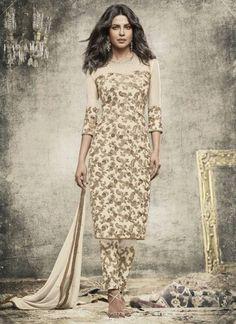 Off White Embroidery Fancy Salwar Suit 7 Days Easy Return, Buy Designer Salwar Kameez, Silk Salwar Kameez, Bridal Salwar Suit, etc....