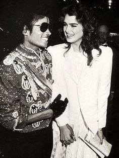 Brooke Shields and Michael Jackson She just wanted to be seen with him because he was blowing up