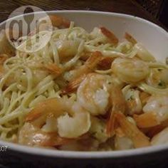 Garlic Prawn Linguine, cooking this tonight :) @ allrecipes.co.uk