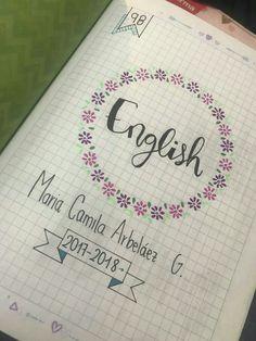 Bullet Journal Tracker, Bullet Journal School, Lettering Tutorial, Hand Lettering, School Labels, School Notebooks, Decorate Notebook, Notebook Covers, School Notes