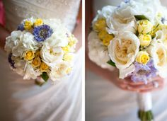 Soft yellow and purple bouquet
