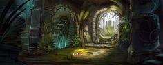 throne room fantasy deviantart jordangrimmer landscape interior rooms library favourites postapocalyptic paintings castle dark concept forest magic environments artwork overgrown