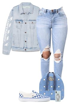 Untitled #56 by jacqueline-jj on Polyvore featuring polyvore, fashion, style, Off-White, Gucci, Rolex, Sonix, Vans and clothing