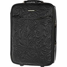 Black floral quilted studded suitcase - make up bags / luggage #summer #goth #style