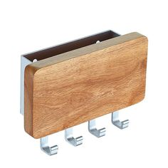 Creative simple wood aluminum alloy combination of home wall Storage Rack