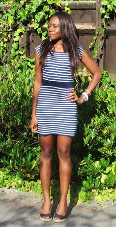 Weekend Project- DIY Striped Dress- TUTORIAL (EASY) - A N E M I S T Y L E