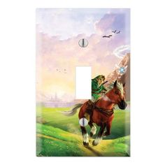The Legend of Zelda: Ocarina of Time Decorative Single Toggle Light Switch Wall Plate Cover