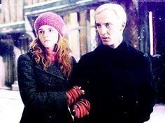 Draco and hermione in the winter time