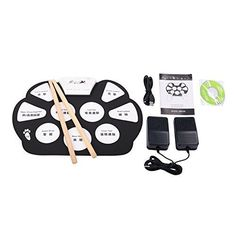 Konix Silicon Flexible 9 Pad Roll up Drum Kit with Sustain Pedals >>> Check this awesome product by going to the link at the image.Note:It is affiliate link to Amazon.